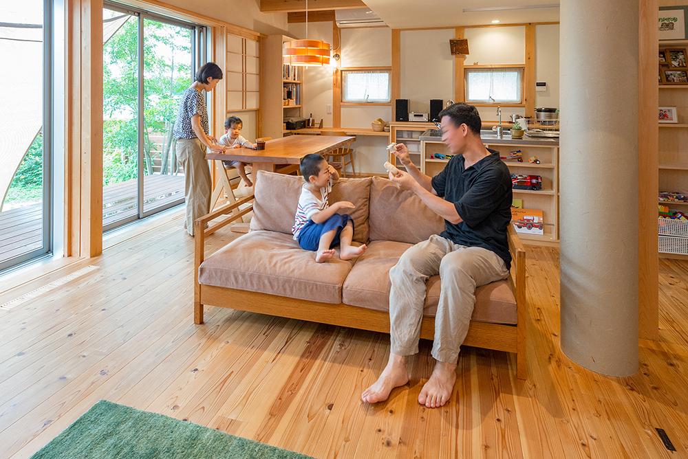 【暮らしの写真集】<br>木の清々しさに包まれた心地よい家
